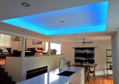 Kitchen Renovation Coffs Harbour - Bulkhead with strip lighting 4