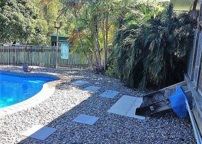 Old pool yard steps