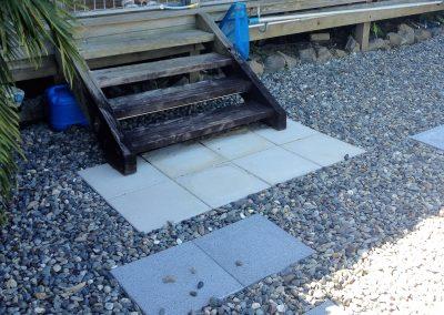 Pool yard steps before 2
