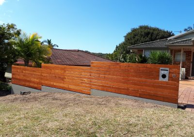 Hardwood timber screening Boambee- East August 2018